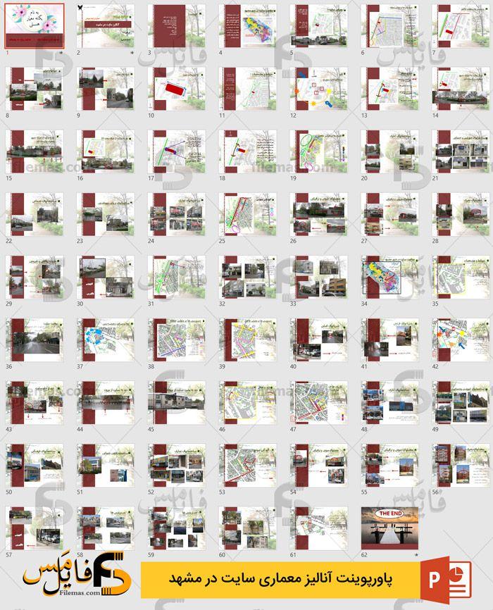 دانلود پاورپوینت آنالیز سایت در مشهد - آنالیز معماری 2 سایت مشهد