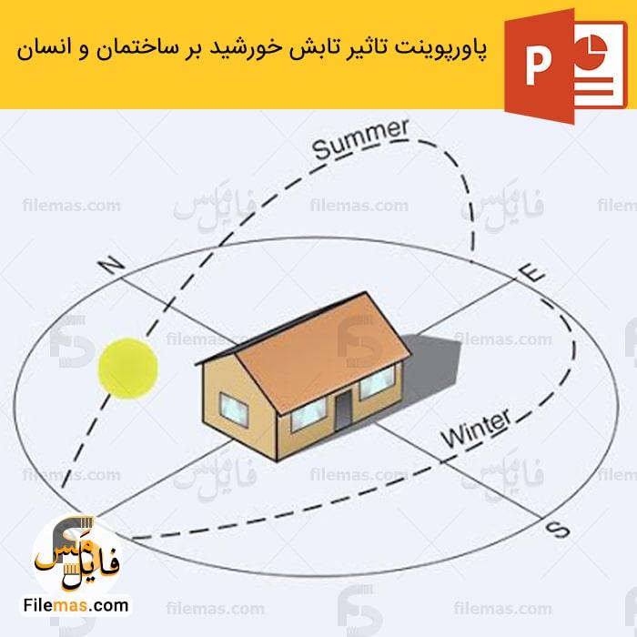 پاورپوینت تاثیر تابش خورشید بر ساختمان و انسان