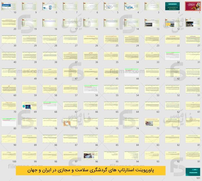 پاورپوینت استارتاپ های گردشگری سلامت و مجازی در ایران و جهان