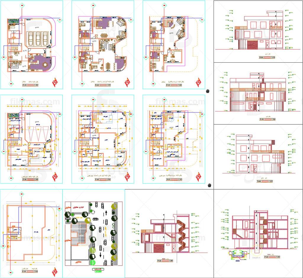 نقشه ساختمان دوبلکس 300 متری